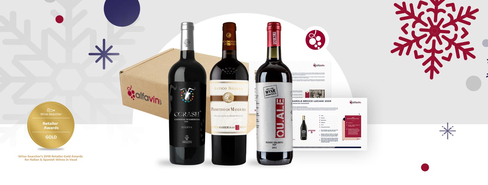abonnement vin mensuel cadeau suisse