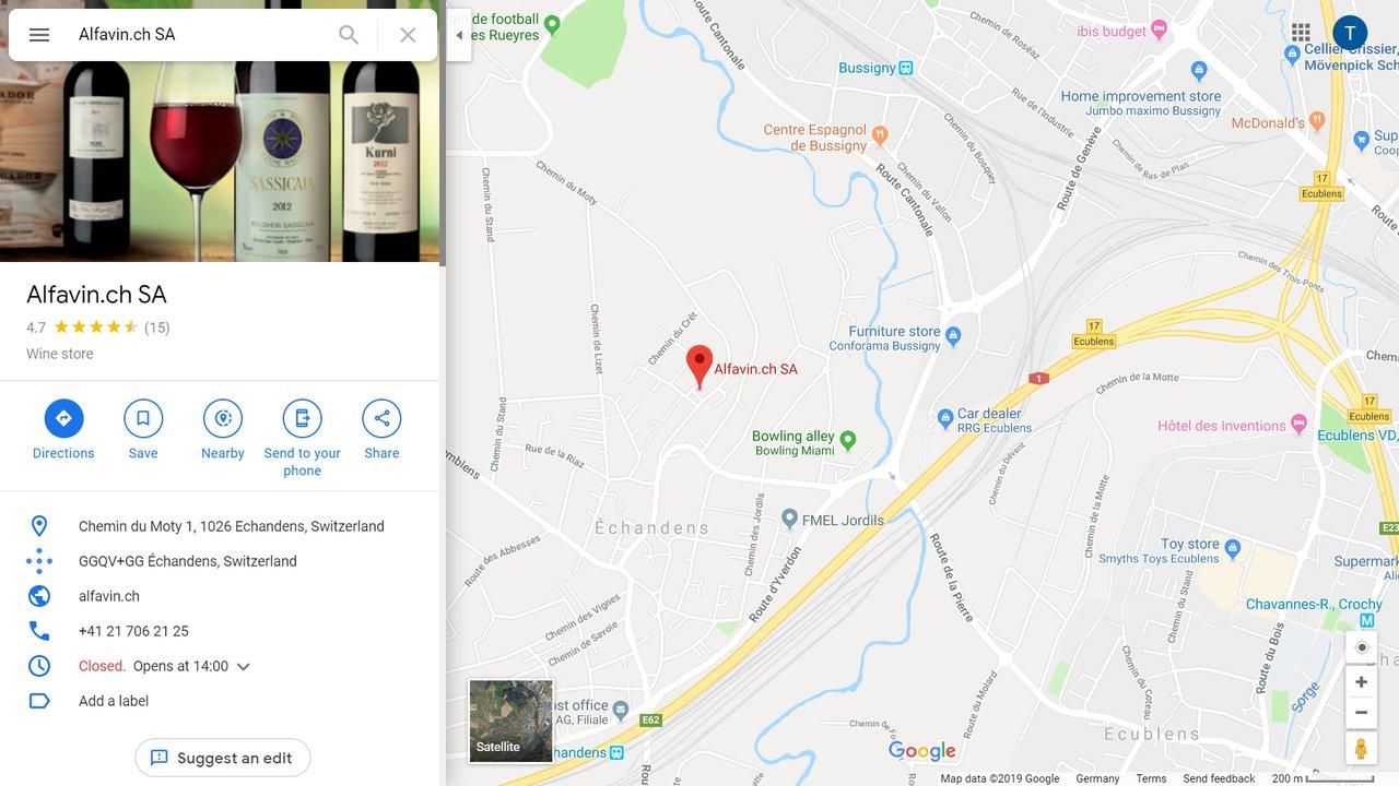 alfavin wine shop lausanne echandens