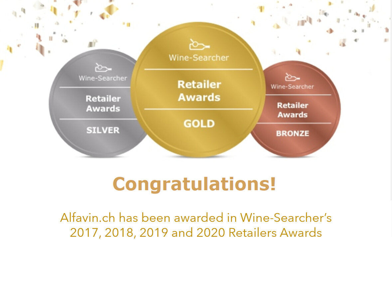 ALFAVIN.CH WINE SEARCHER'S GOLDMEDAILLE